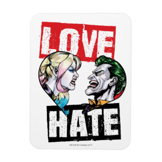 Batman | Harley Quinn & Joker Love/Hate Magnet