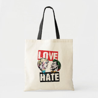 Batman | Harley Quinn & Joker Love/Hate Tote Bag