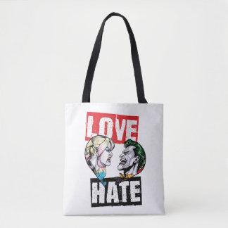 Batman | Harley Quinn & Joker Love/Hate Tote Bag