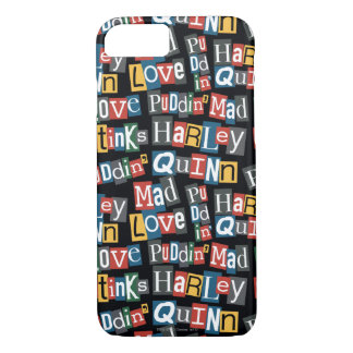 Batman   Harley Quinn Ransom Note Style Pattern iPhone 8/7 Case