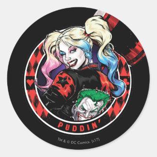 Batman | Harley Quinn Winking With Mallet Classic Round Sticker