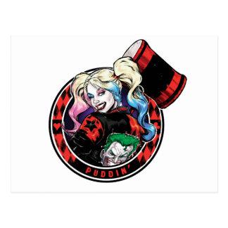Batman   Harley Quinn Winking With Mallet Postcard