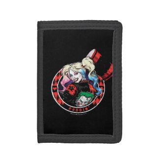 Batman   Harley Quinn Winking With Mallet Tri-fold Wallet
