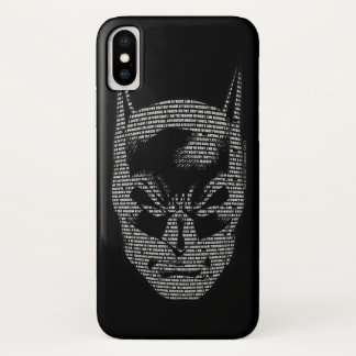 Batman Head Mantra iPhone X Case