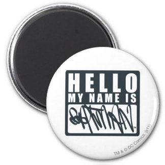 Batman | Hello My Name is Batman Logo 2 Inch Round Magnet