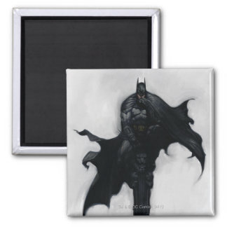 Batman Illustration Square Magnet