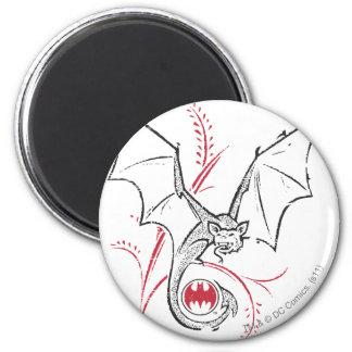 Batman Image 41 2 Inch Round Magnet