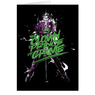 Batman   Joker Clown Prince Of Crime Ink Art Card
