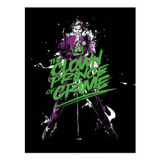 Batman | Joker Clown Prince Of Crime Ink Art Postcard