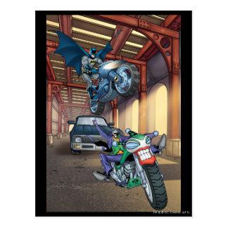 Batman & Joker - Riding Motorcycles Postcard