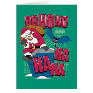 Batman | Joker Santa Claus Climbing Out Chimney Card