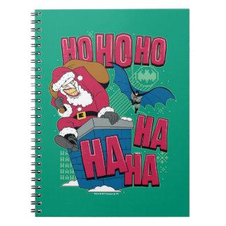 Batman   Joker Santa Claus Climbing Out Chimney Notebook