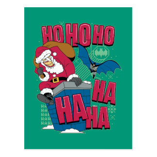 Batman | Joker Santa Claus Climbing Out Chimney Postcard