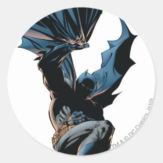 Batman Jumping Down Action Shot Round Sticker