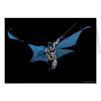 Batman leaps with rope card