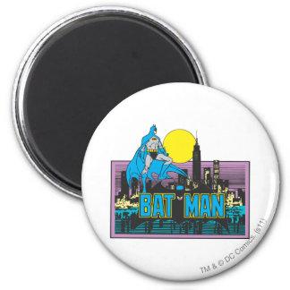 Batman & Letters 2 Inch Round Magnet