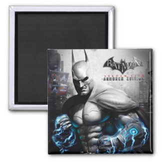 Batman - Lightning Square Magnet