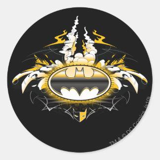 Batman Logo with Cars Classic Round Sticker