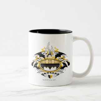 Batman Logo with Cars Two-Tone Coffee Mug