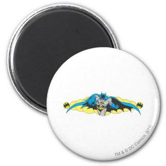 Batman Lunges Forward 2 Inch Round Magnet