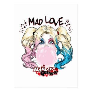 Batman Mad Love Harley Quinn Chewing Bubble Gum Postcard