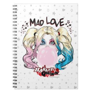 Batman | Mad Love Harley Quinn Chewing Bubble Gum Spiral Notebook