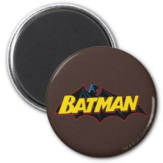 Batman | Old School Logo 2 Inch Round Magnet