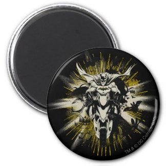 Batman on Bike 2 Inch Round Magnet