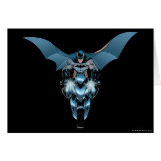 Batman on bike with cape card