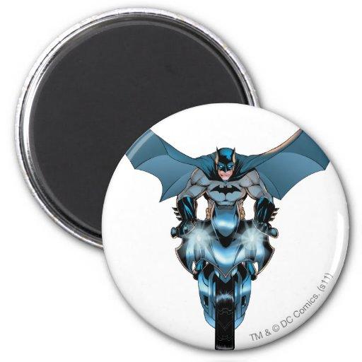 Batman on bike with cape magnet
