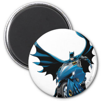 Batman on cycle 2 inch round magnet