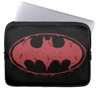 Batman | Oozing Red Bat Logo Laptop Sleeve
