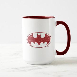 Batman   Oozing Red Bat Logo Mug