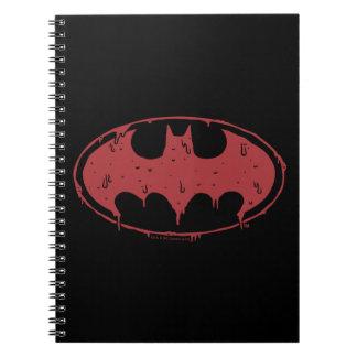 Batman | Oozing Red Bat Logo Notebook