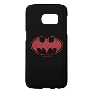 Batman | Oozing Red Bat Logo Samsung Galaxy S7 Case