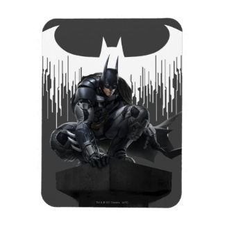 Batman Perched on a Pillar Rectangular Photo Magnet