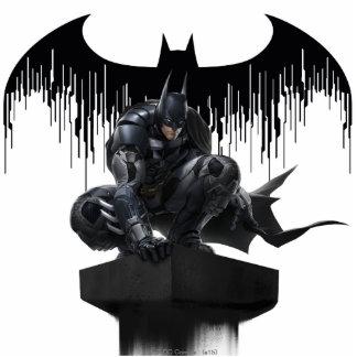 Batman Perched on a Pillar Standing Photo Sculpture