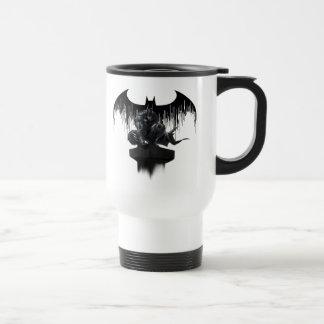Batman Perched on a Pillar Travel Mug