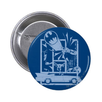 Batman - Picto Blue 2 Inch Round Button