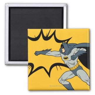 Batman Punch Square Magnet
