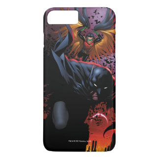 Batman & Robin Flight Over Gotham iPhone 7 Plus Case