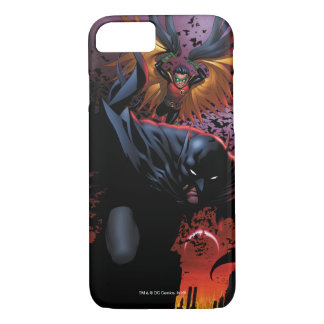 Batman & Robin Flight Over Gotham iPhone 8/7 Case