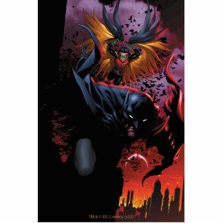 Batman & Robin Flight Over Gotham Acrylic Cut Outs