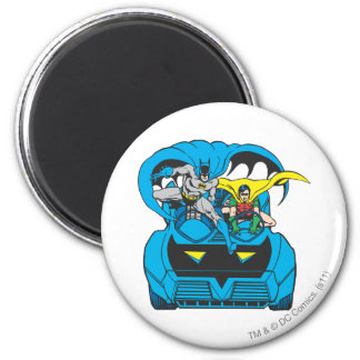 Batman & Robin Ride Batmobile 2 Inch Round Magnet
