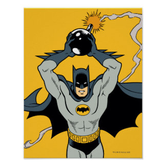 Batman Running With Bomb Poster