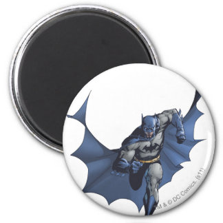 Batman runs with flying cape 2 inch round magnet