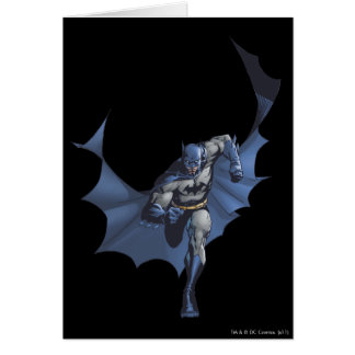 Batman runs with flying cape card