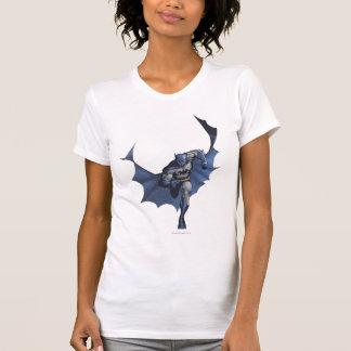 Batman runs with flying cape shirts