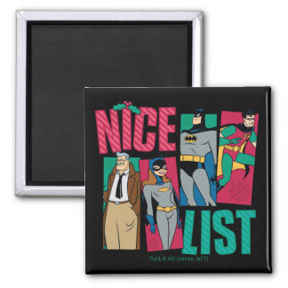 Batman | Santa Nice List of Heroes Magnet