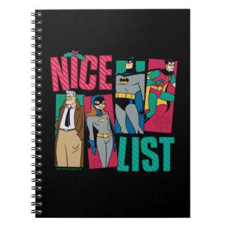 Batman   Santa Nice List of Heroes Spiral Notebook